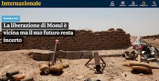 Sara Manisera, Iraq, Mosul, liberazione