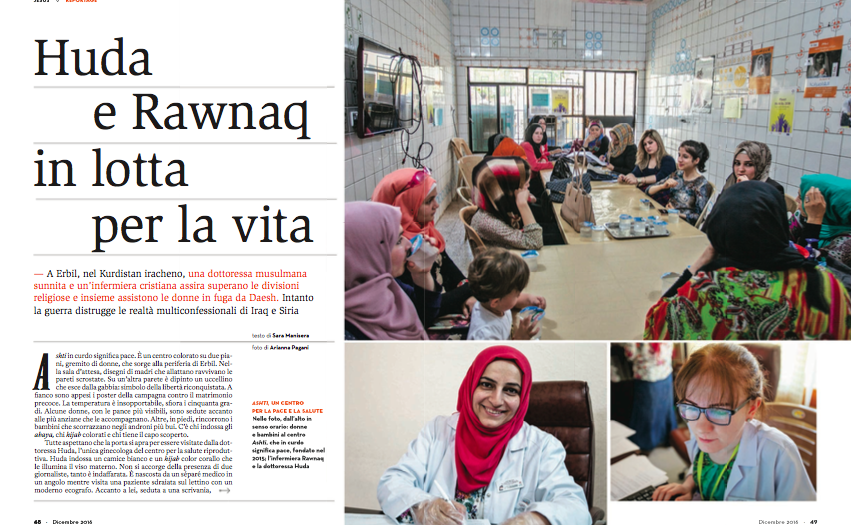 donne in fuga, iraq, cliniche, un ponte per, mosul